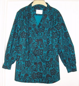 Jade Lace Print blouse 01