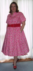 fifties cherry print dress blog