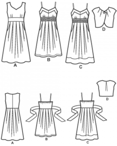 simplicity 2886 line drawings