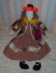 polly patchwork doll