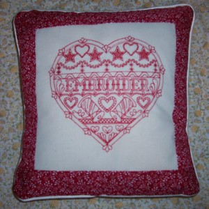 embroider scented cushion
