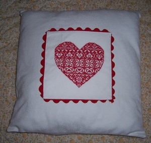 fairisle cushion front
