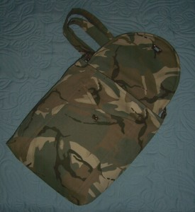 camouflage bag 3 open