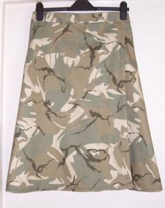 camouflage wrapover skirt