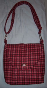Cross Body Bag no 12  wool