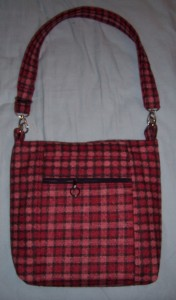 Cross Body Bag no 12 wool reverse