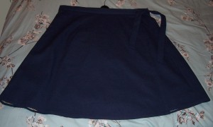 navy wraparound skirt 1