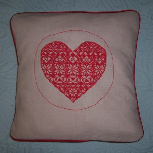 2015 ufo scandi cross stitch cushion