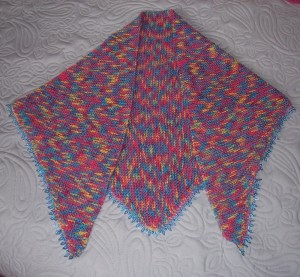 all knit shawlette plus trim