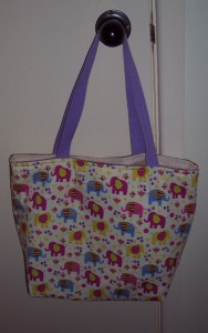 elephant print demonstration bag 1