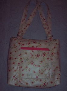 DITSY PRINT OILCLOTH BAG REVERSE