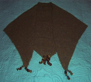 artesano nebula olive oil shawl with button trim