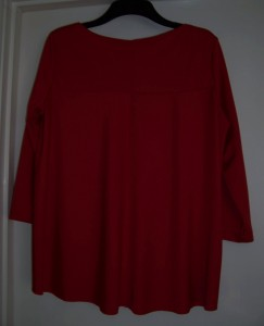 6272 red ponte jersey top reverse
