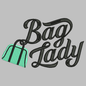 bag lady embroidery
