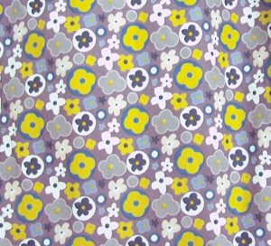 autumn daisy print close up