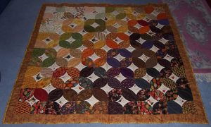 a quilt on the floor